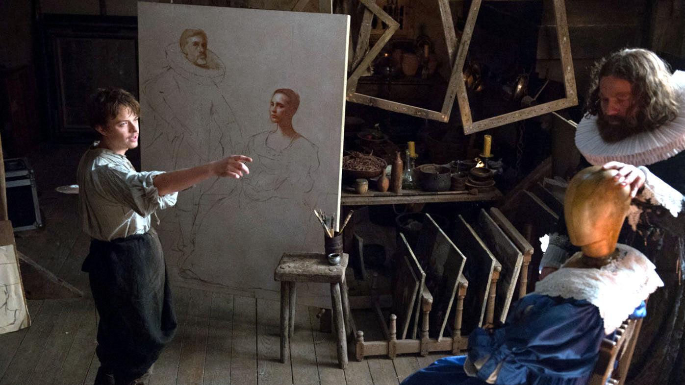 Богатият бюргер кани талантливия беден художник в дома си и интригата се завърта