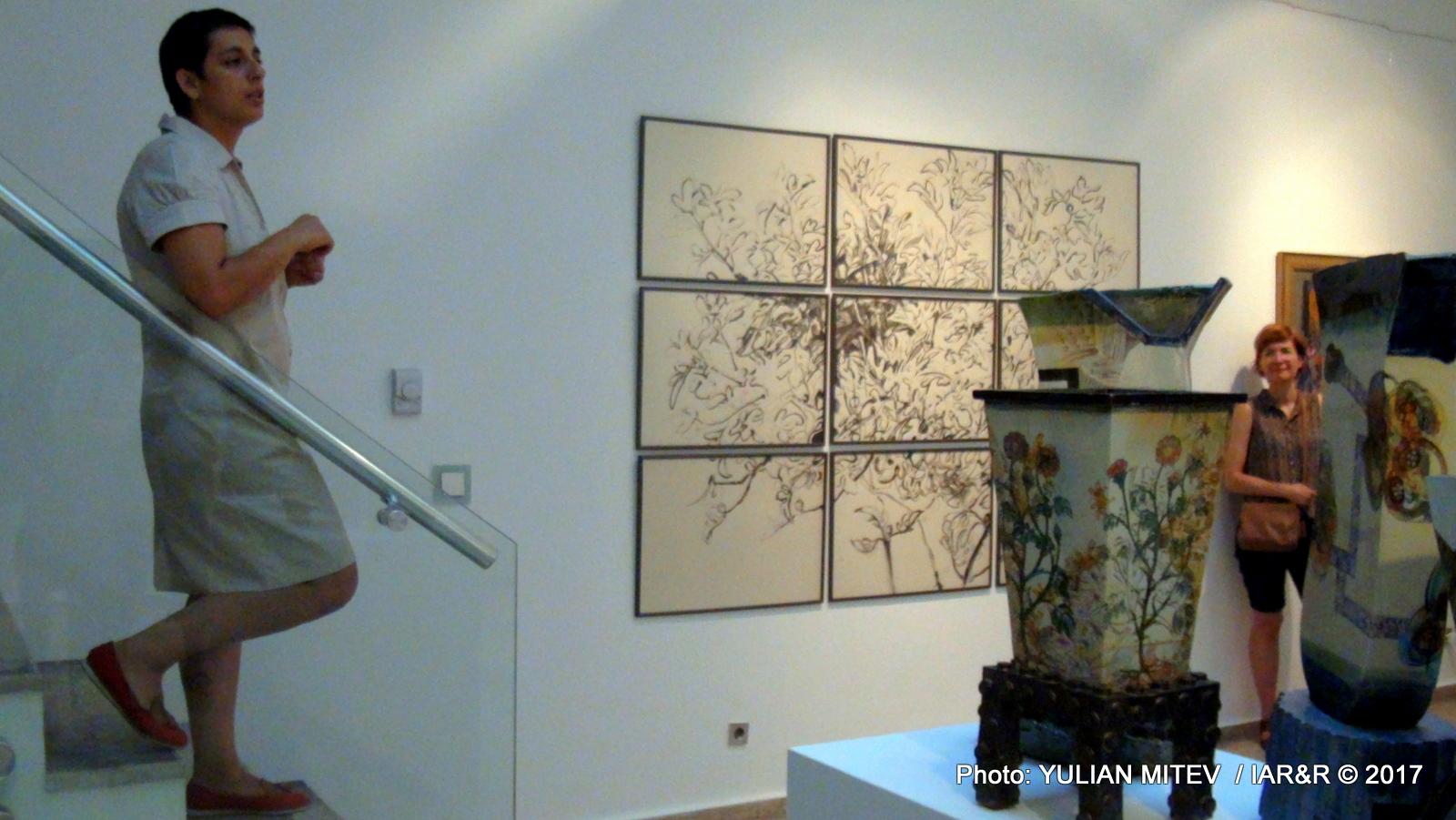 Кураторката на изложбата – изкуствоведката В. Ножарова подробно разказа за замисъла и осъществяването на експозицията