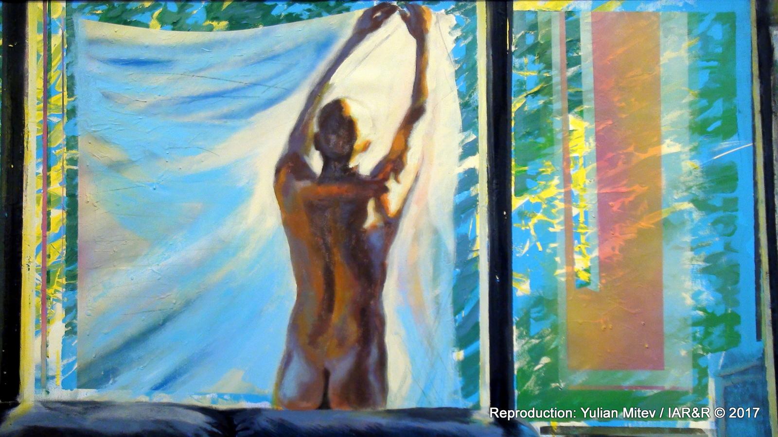 """Константин Костов, """"Състояния на пречистване ІІ"""" (фрагмент), 2017, акрил, масло върху платно, 100 х 125 см, естимейт € 1200, провенанс – ателието на художника"""
