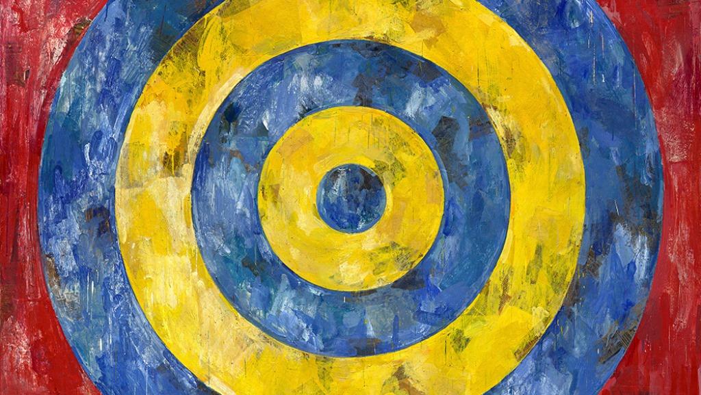"""Джаспър Джоунз. """"Мишена"""" (фрагмент). 1961. Институт по изкуствата в Чикаго © Jasper Johns / VAGA, New York / DACS, London.  Photo: © 2017. The Art Institute of Chicago / Art Resource, NY / Scala, Florence"""