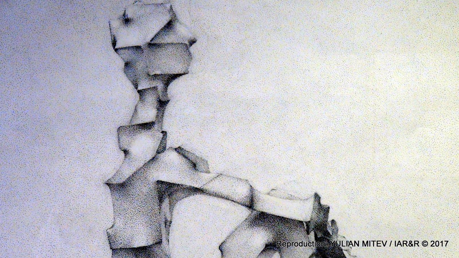 Рисунка от Мартин Трифонов, показана в детайл за да се види ясно техниката на рисуване