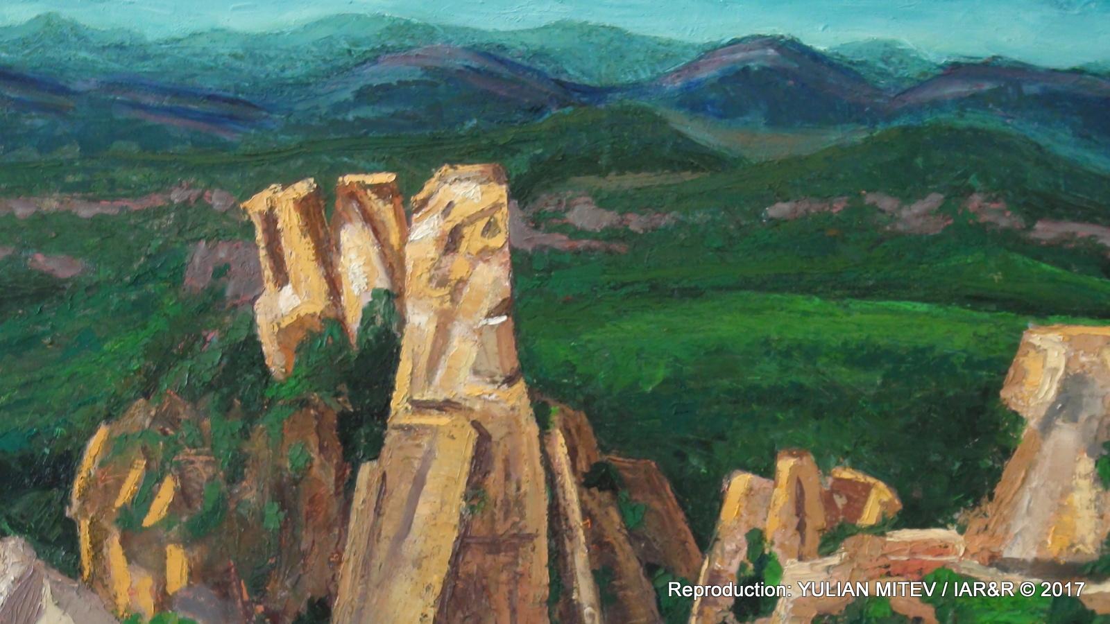 """Евгени Недев, """"Белоградчишките скали"""" (фрагмент) 80 х 100 см, естимейт € 525, провенанс – ателието на художника"""