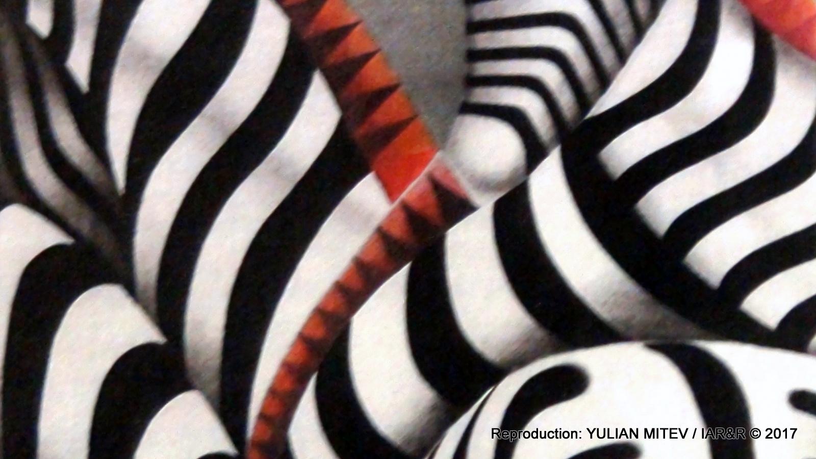 """Ема Вертерова, """"Зебри"""" (фрагмент), 70 х 70 см, естимейт € 350, провенанс – ателието на художника"""