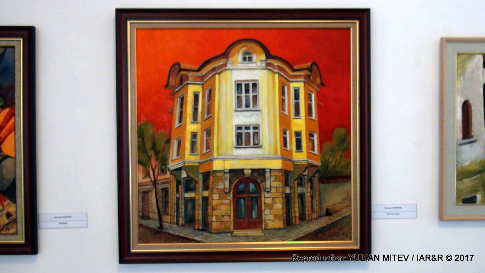 """Максим Маринов, """"Жълтата къща"""", 70 х 70 см, естимейт € 300, провенанс – ателието на художника"""