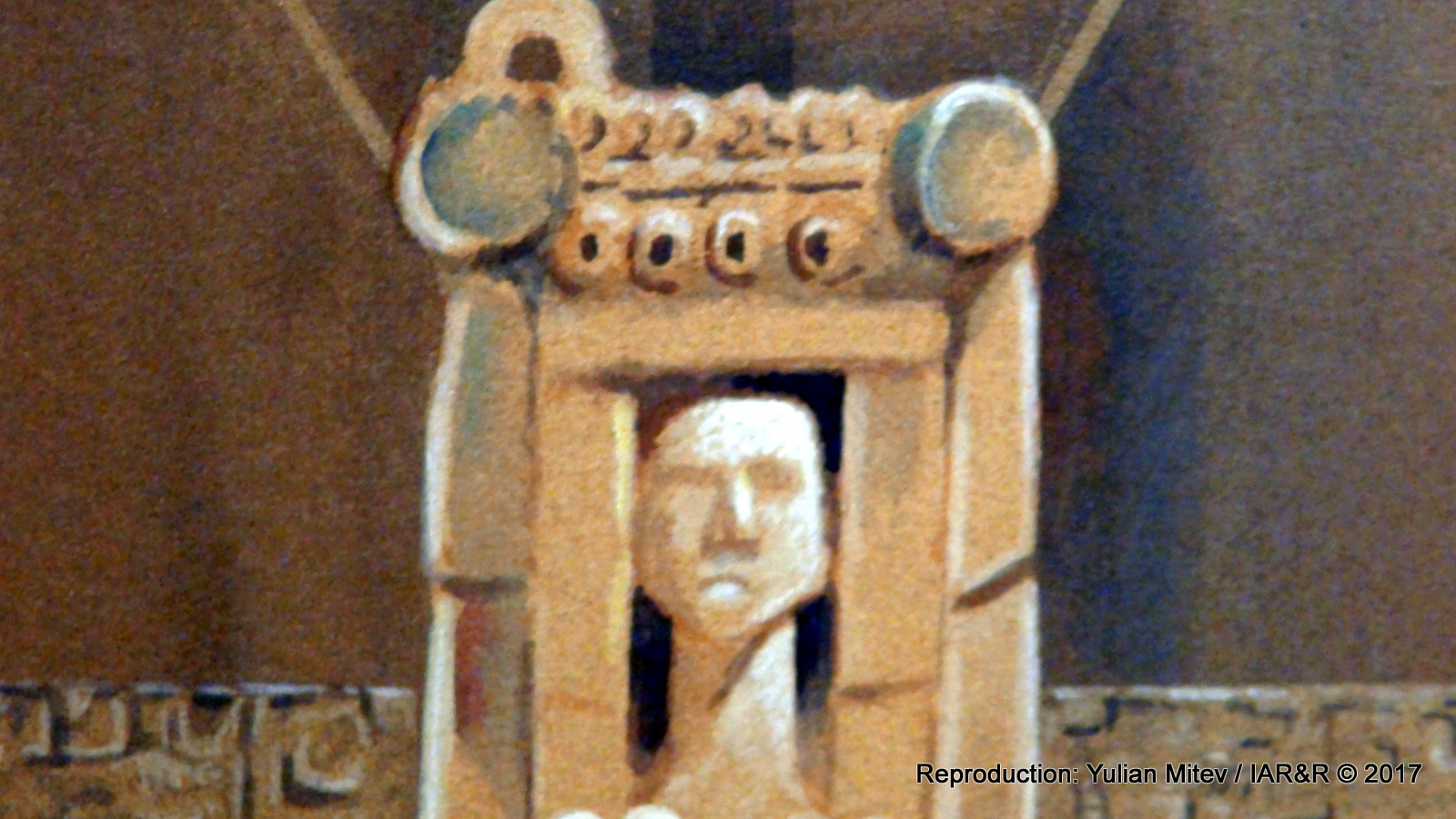 """НИКОЛА МАНЕВ, """"Древни послания"""" (фрагмент), година на създаване – не е посочена, размери – не са посочени, провенанс – ателието на художника, естимейт 550 €"""