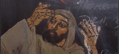 """ЛЮБЕН ДИМАНОВ, """"Помни съботния ден..."""" (детайл), маслени бои, платно, провенанс – ателието на художника, естимейт € 3 500"""