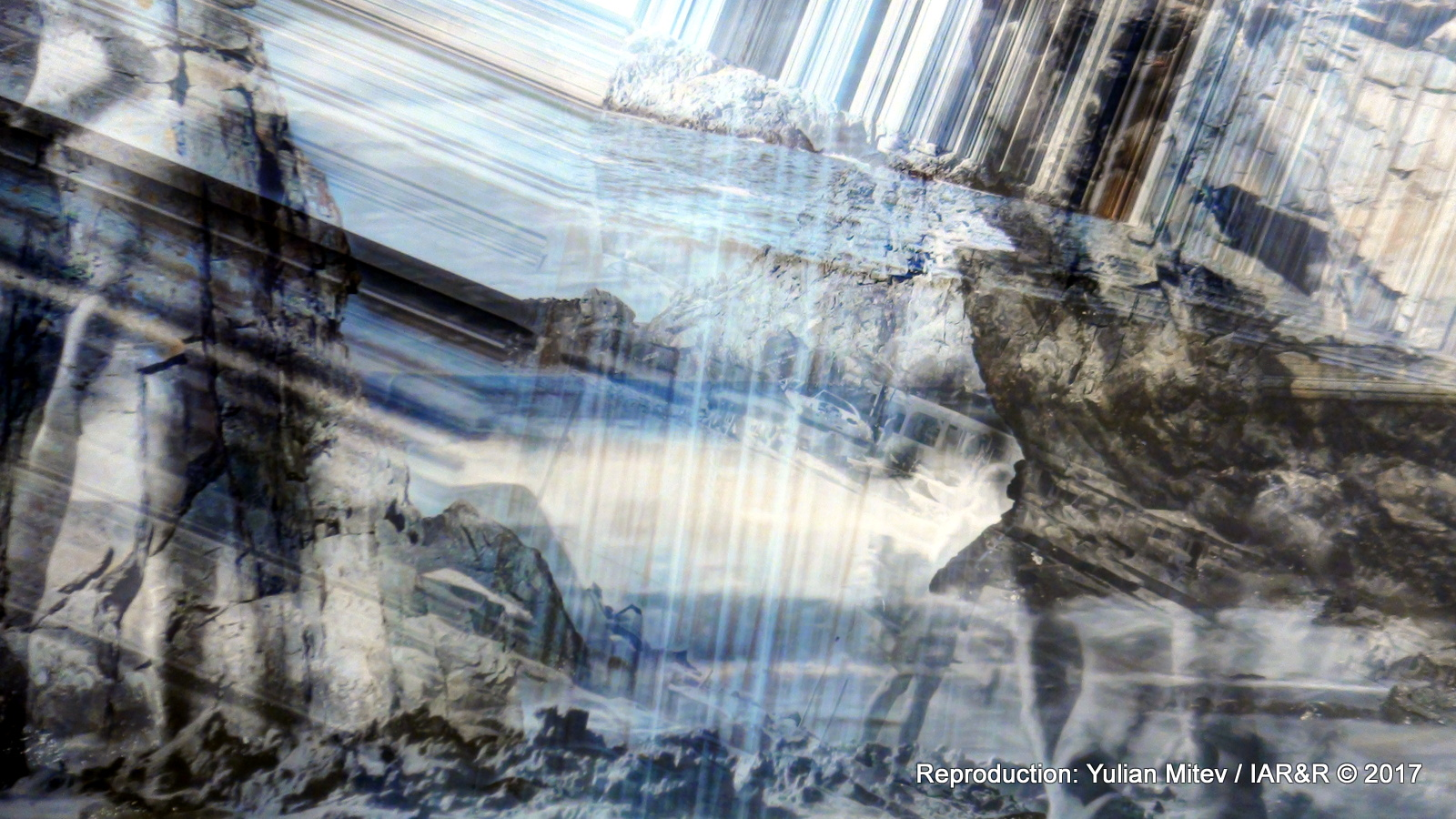 """ВЕНЕЛИНА КАТАНСКА, """"Explorer"""" (фрагмент), серия """"Z GLITCH"""", Дибонд кристал, пигментен печат, 47 х 70 см, 2017"""
