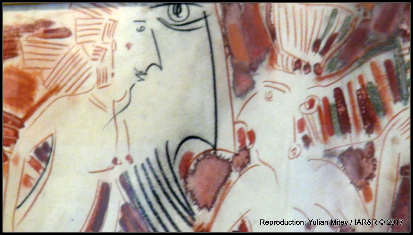 """Димитър Казаков-Нерон, """"Композиция"""" (фрагмент), пастел, смесена техника, хартия, 72х50 см, естимейт € 1500, провенанс – колекцията на галерия """"Сезони"""""""