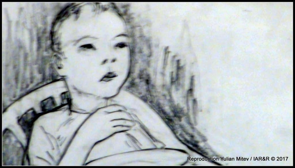 """Петринел Гочев, """"Момче с чиния"""" (фрагмент), молив, естимейт € 200, провенанс – ателието на художника"""