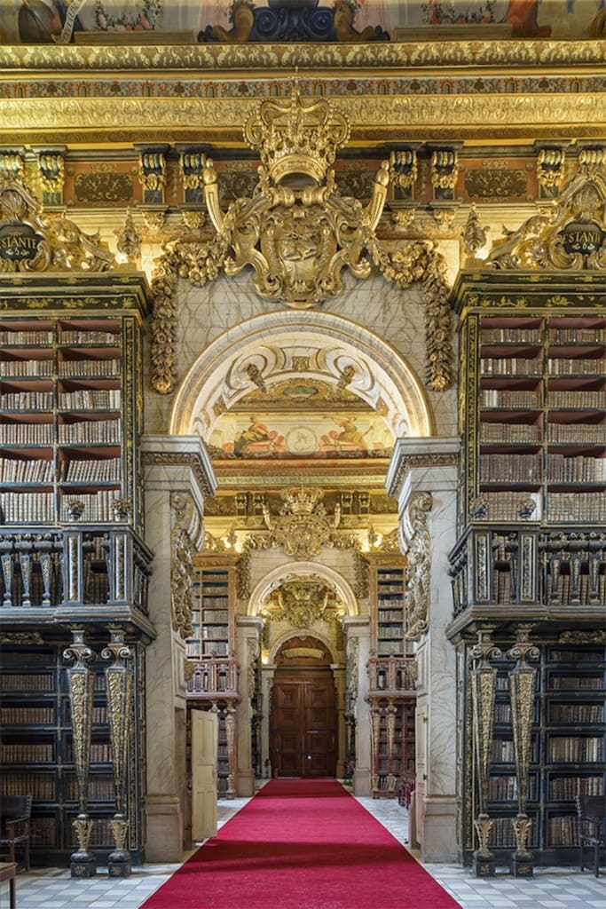 Entrance of Biblioteca Joanina. Portugal (2015)