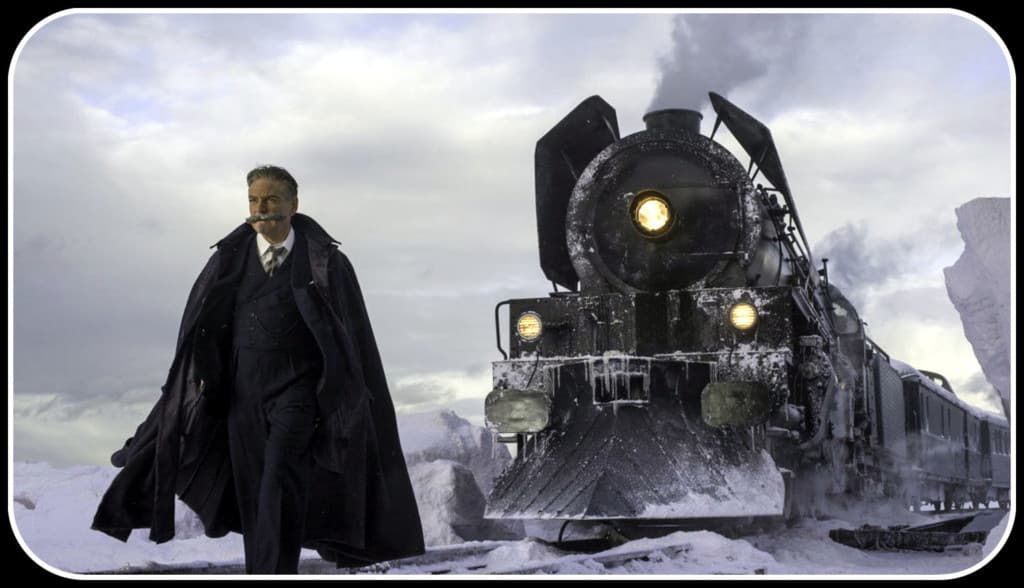 """Никой не може да устои пред разкошните мустаки на Еркюл Поаро, включително и постановчикът на филма """"Убийство в """"Ориент експрес"""" Кенет Брана.  Фото: Twentieth Century Fox Film"""