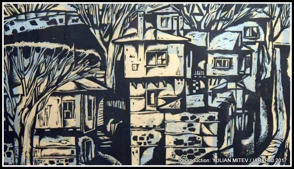 """Фрагменти от графики на Юлий Минчев (1923 – 2006), представени на изложбата """"Калина Тасева. Юлий Минчев, Десислава Минчева, Сандро Арабян"""""""