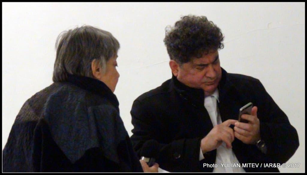 Преди откриване на изложбата художникът Греди Аса даде пространно интервю за видната българска журналистка и известен столичен ас на културните предавания по БНР Юлия Петрова