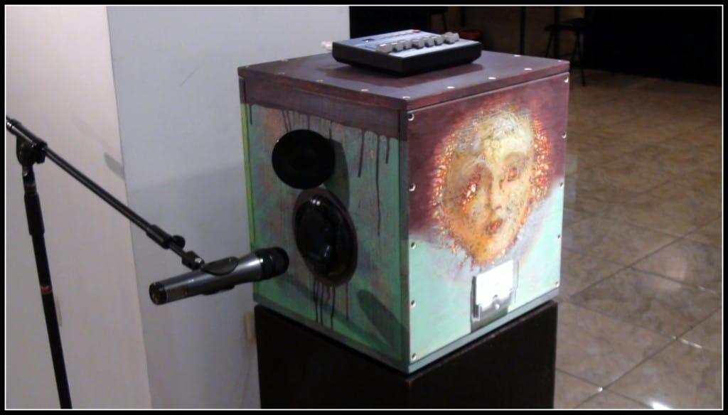 """Ето как изглежда общият вид на експоната, който носи наименованието """"Говоряща кутия, емоционални механизми"""""""