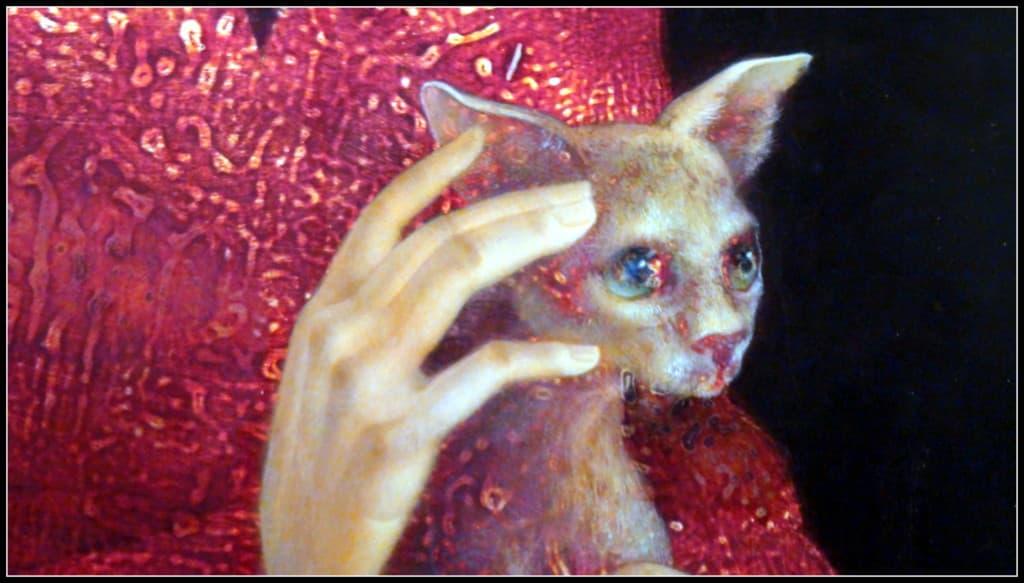 Художничката показва не само изображенията на хора, но и на животни