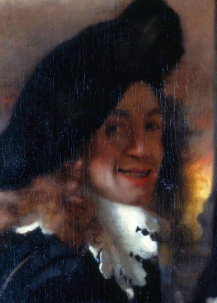 """Мъж от картината """"Сводницата"""", за който се смята, че е всъщност автопортрет на Вермеер."""