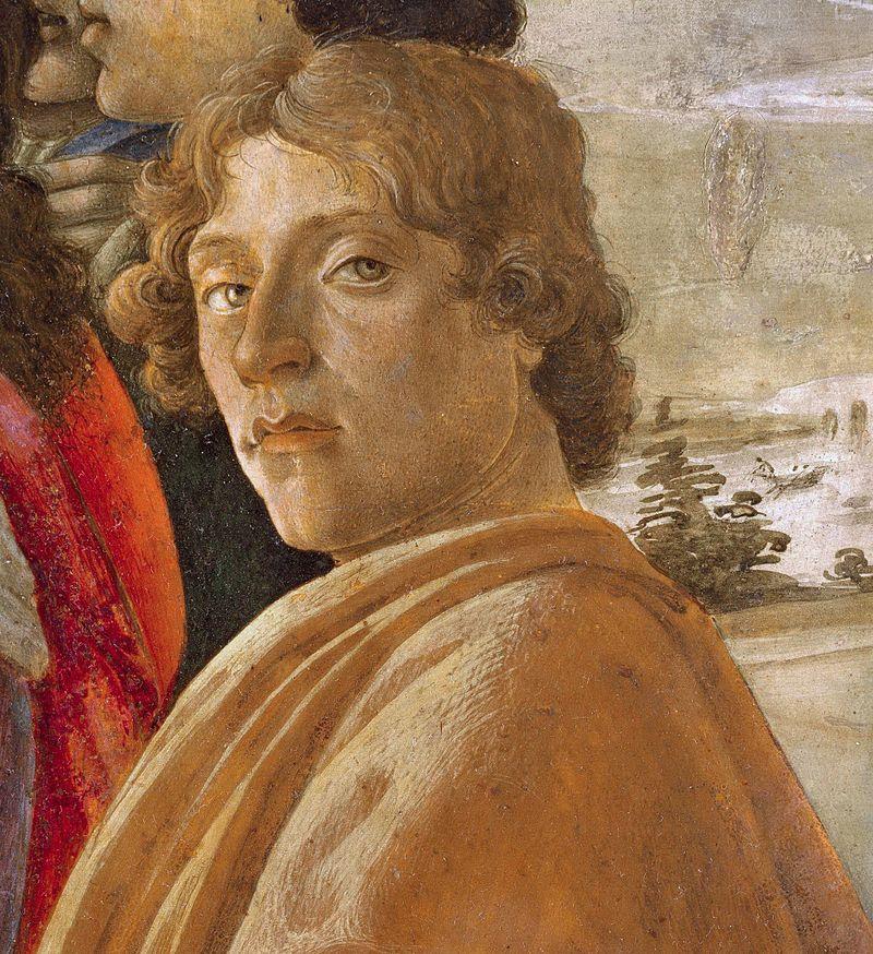 Портрет, за който се смята, че е вероятен автопортрет на Ботичели.