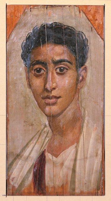 Портрет, който може да се види в Walters Art Museum, Балтимор, Съединените американски щати от края на 1 в.